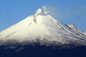 Popocatepetl volcano in Mexico