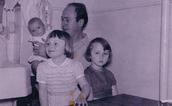 Roald Dahl and his children