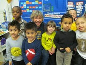 Mrs. Westrick and her proud Pre K students.