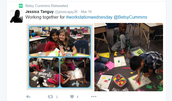 Happy 2nd graders collaborating and learning!