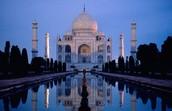 The Taj Mahal at night