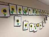 sunflower paintings!