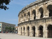 Amphitheater in Nîmes, France (Exterior)