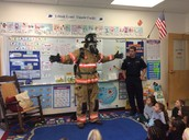 We got to see a real live firefighter in uniform!