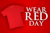 Monday - Wear Red Day