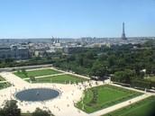 Birds eye view of les tuileries