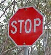 Stop Sign in English