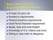 Step 2- Eligibility to become a citizen