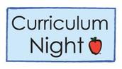 Curriculum Night:  September 27th