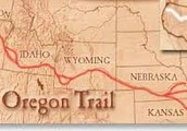 The map of the Oregon Trail