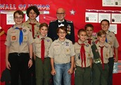 Dr. Gilbert Kaats with GMS Boy Scout Troop