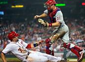 Vayan Un juego de béisbol de philly
