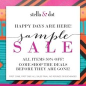 It's here! Time for my semi-annual sample sale!!