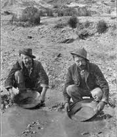 Two Men Panning for Gold