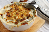 Chicken and broccoli with bechamel sauce