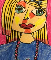 Cubism Self Portraits by Fifth Grade