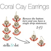 Coral Cay earrings - $25