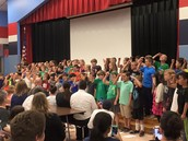 Singing 2nd Graders