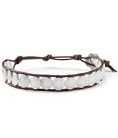Signature Leather & Scallop Bracelet $17