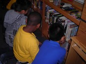 Students find books that interest them.