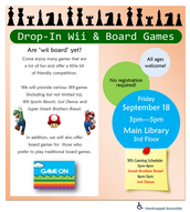 Drop-In Wii & Board Games