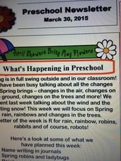 News from Preschool! Why do we do all of this?!