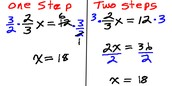 Solving 1 step equations with fractions