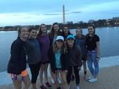 Le monument de Lincoln avec mes amis