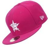 Pink Houston Astros Hat