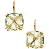 RESERVED: Cushion drop earrings mint