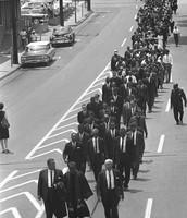 A memorial walk for Medgar Evers