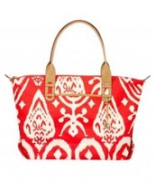 How Does She Do It Tote |Red Ikat