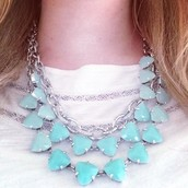 Somervell Necklace (aqua) $59