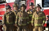 Fire fighter crew in New York