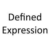 Defined Expression