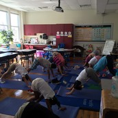 Friday Flow on our yoga mats
