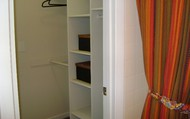 Closet space from Master to Full Bath