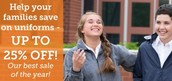 School Belles Uniform Information For Your Families-Winter Sale!