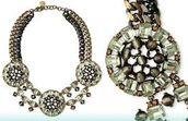 Estate Crystal Bib Necklace