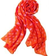 Pink and Orange Elephant scarf