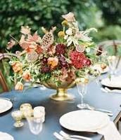 Carnations, Iris, Larkspur, Cyclamen, Hollyhock