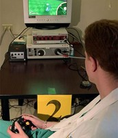doctor playing video game