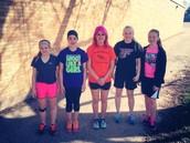 Ladies Shot Put Team