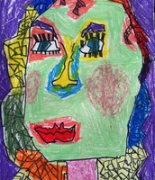 Fifth Grade Cubism Self-Portraits