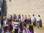 Teachers Getting Ready For The Water Balloon Toss!