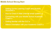 Middle School Get a Strong Start!