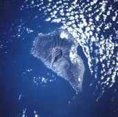 A underwater volcano erupting