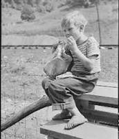 Kid eating his food