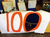100th day sign-- Jump through the zero!