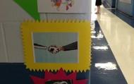 Greetings visual outside Mrs. Bradley's door!